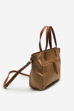 Cortefiel Nylon style shopper bag Brown
