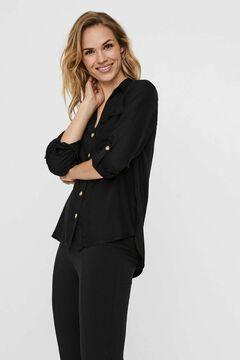 Cortefiel Shirt with pockets Black