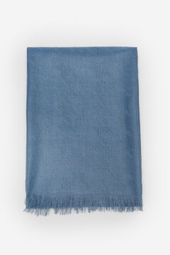Cortefiel Textured houndstooth scarf Royal blue