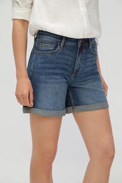 Cortefiel Calções jeans básicos Azul