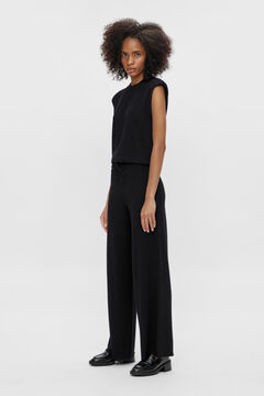 Cortefiel Stretch trousers Black