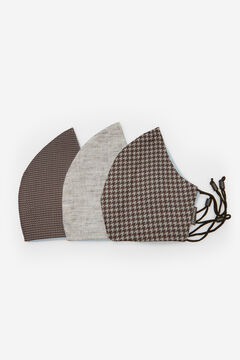 Cortefiel Pack de 3 máscaras higiénicas reutilizáveis Cinzento