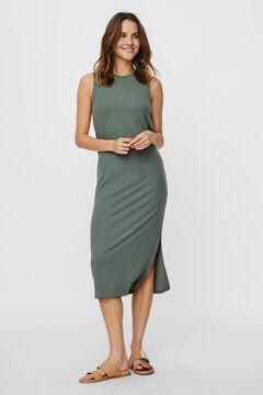 Cortefiel Long sleeveless dress  Pistachiogreen
