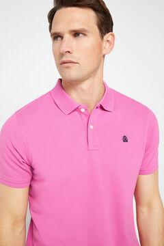 Cortefiel Short-sleeved logo polo shirt Maroon