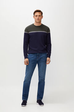 Cortefiel Regular medium wash jeans Royal blue