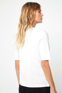 Cortefiel Animal print t-shirt White