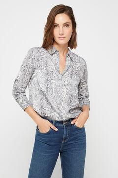 Cortefiel Silk feel shirt Natural