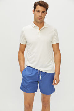 Cortefiel Plain Eco-friendly REPREVE® sustainable swimsuit Royal blue