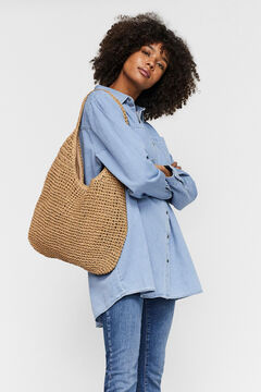 Cortefiel Shopper bag Stone