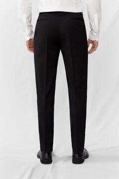 Cortefiel Black slim fit trousers Black
