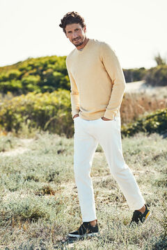 Cortefiel V-neck jumper Yellow