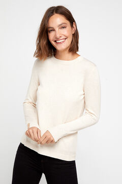 Cortefiel Crew neck sweater Pink