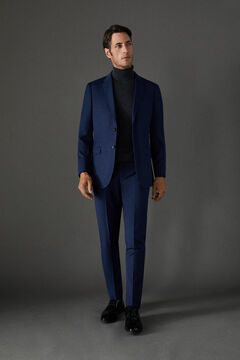 Cortefiel Blue slim fit suit trousers Turquoise