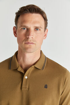 Cortefiel Short-sleeved polo shirt Vanilla