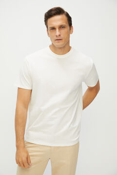 Cortefiel Short-sleeved T-shirt White