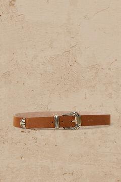 Cortefiel Cinturón hebilla retorcida Marrón
