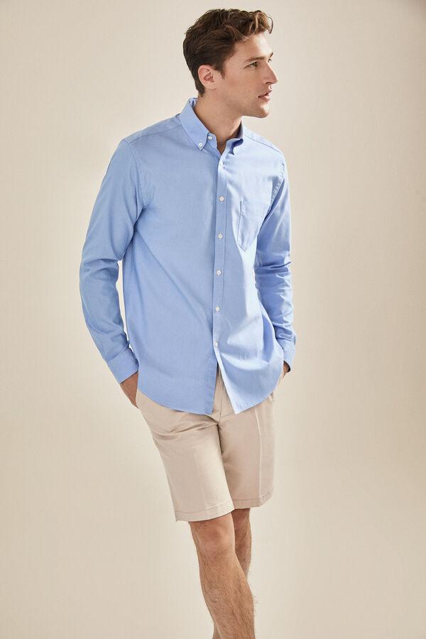007a19c79c2cf Cortefiel Camisa lisa coolmax Azul