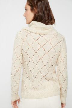 Cortefiel Multi-yarn openwork jumper Mink