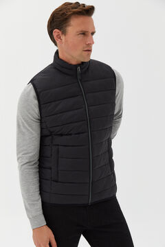 Cortefiel Ultralight quilted gilet Black
