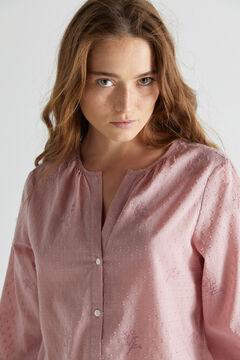 Cortefiel Camisa algodón orgánico Rosa