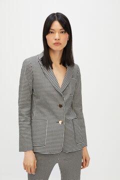 Cortefiel Super comfort fabric blazer Natural