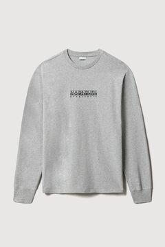 Cortefiel Napapijri S-BOX SS long-sleeved T-shirt Gray