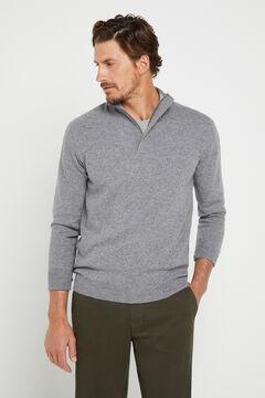 Cortefiel Regular fit winter weight chinos Dark gray