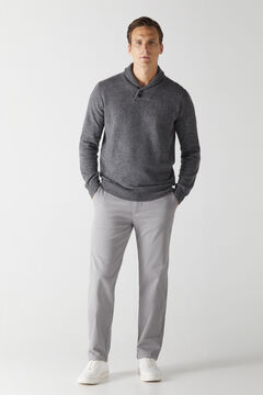 Cortefiel Essential classic fit chinos Gray
