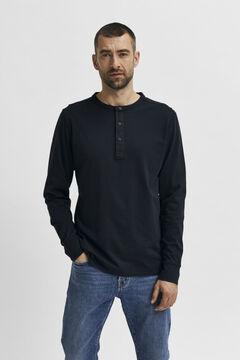 Cortefiel Men's long sleeve t-shirt Black