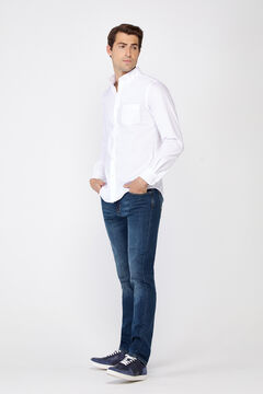 Cortefiel Slim dark wash jeans Blue jeans