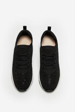 Cortefiel Ultra-light lace-up sneaker Black