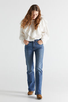 Cortefiel Bell-bottom jeans Turquoise