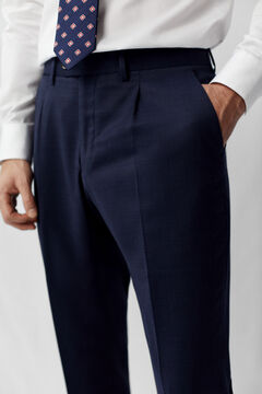 Cortefiel Classic fit trousers Navy