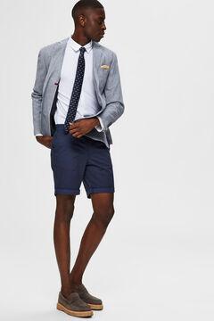 Cortefiel Printed Bermuda shorts Royal blue