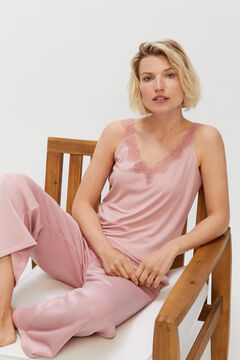 Cortefiel Ribbed vest Pink