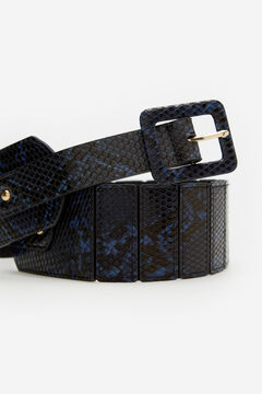 Cortefiel Blue stretch belt Blue