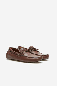 Cortefiel Studded sole loafer Tobaco