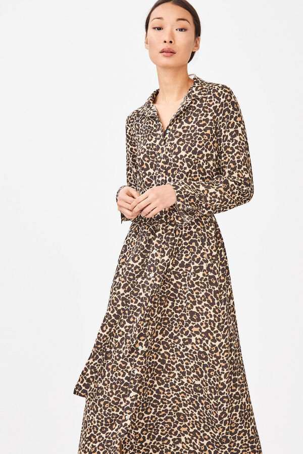 a25294ceb0e Cortefiel Long shirt dress Printed