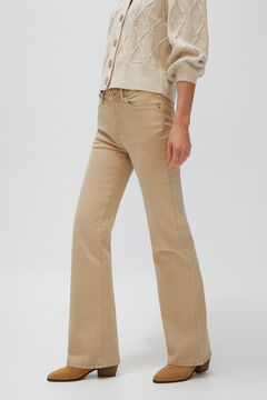Cortefiel Cropped bell-bottom jeans Brown