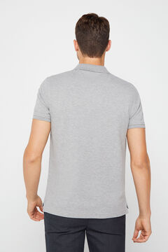 Cortefiel Essential short-sleeved polo shirt Gray