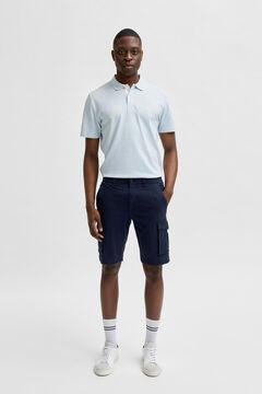 Cortefiel Cargo Bermuda shorts Royal blue