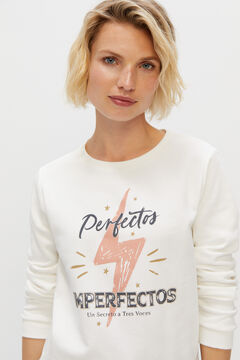 Cortefiel Sudadera Perfectos Imperfectos White