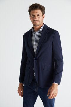 Cortefiel Lightweight jersey-knit blazer Navy