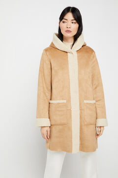Cortefiel Reversible double-faced coat Pink