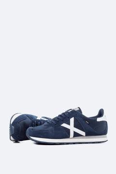 Cortefiel Zapatillas deportivas Munich con nylon en azul marino Azul