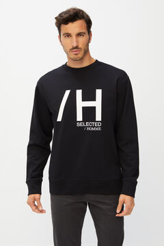 Cortefiel Sweatshirt de homem logo Preto