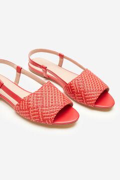 Cortefiel Woven flat sandal Orange