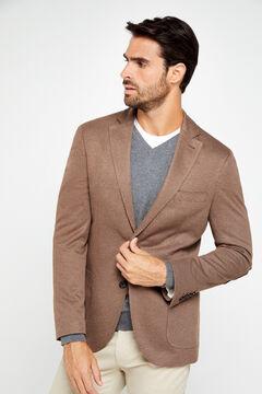 Cortefiel Houndstooth jersey-knit blazer Mole