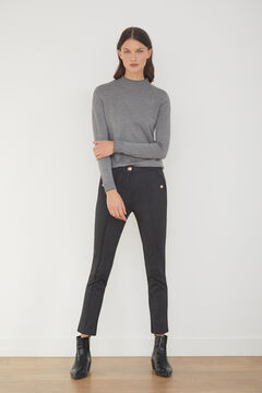 Cortefiel Jersey-knit trousers Gray
