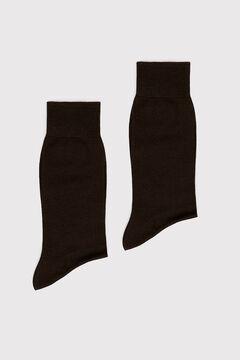 Cortefiel 2-pack plain socks Dark brown